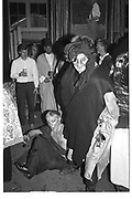 LORD CHRISTOPHER THYNNE throwing someone out of the party. Sophie Learmond and Lucien Thynne 21st. Longleat. 20 September 1986. SUPPLIED FOR ONE-TIME USE ONLY> DO NOT ARCHIVE. © Copyright Photograph by Dafydd Jones 248 Clapham Rd.  London SW90PZ Tel 020 7820 0771 www.dafjones.com