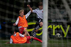 Ivan #5 of VV Maarssen  in action. VV Maarssen O14-1 played a friendly game against CDW O15-2. Maarssen won 9-2 on July 11, 2020 at Daalseweide sports park Maarssen.