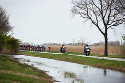 The peloton approach at Healthy Ageing Tour 2019 - Stage 2, a 134.4 km road race starting and finishing in Surhuisterveen, Netherlands on April 11, 2019. Photo by Sean Robinson/velofocus.com