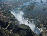Zimbabwe Air flight over Victoria Falls