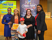 Port Houston Elementary School is recognized during the reveal of the 32 finalists in the Houston ISD NCAA Read to the Final Four, November 11, 2015.