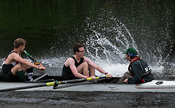 © Licensed to London News Pictures.13/06/15<br /> Durham, England<br /> <br /> A rower causes a splash as he 'catches a crab' during the 182nd Durham Regatta rowing event held on the River Wear. The origins of the regatta date back  to commemorations marking victory at the Battle of Waterloo in 1815. This is the second oldest event of this type in the country and attracts over 2000 competitors from across the country.<br /> <br /> Photo credit : Ian Forsyth/LNP