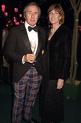 MR & MRS JACKIE STEWART, he is the racing driver, at a dinner in London on 24th October 2000.OID 83