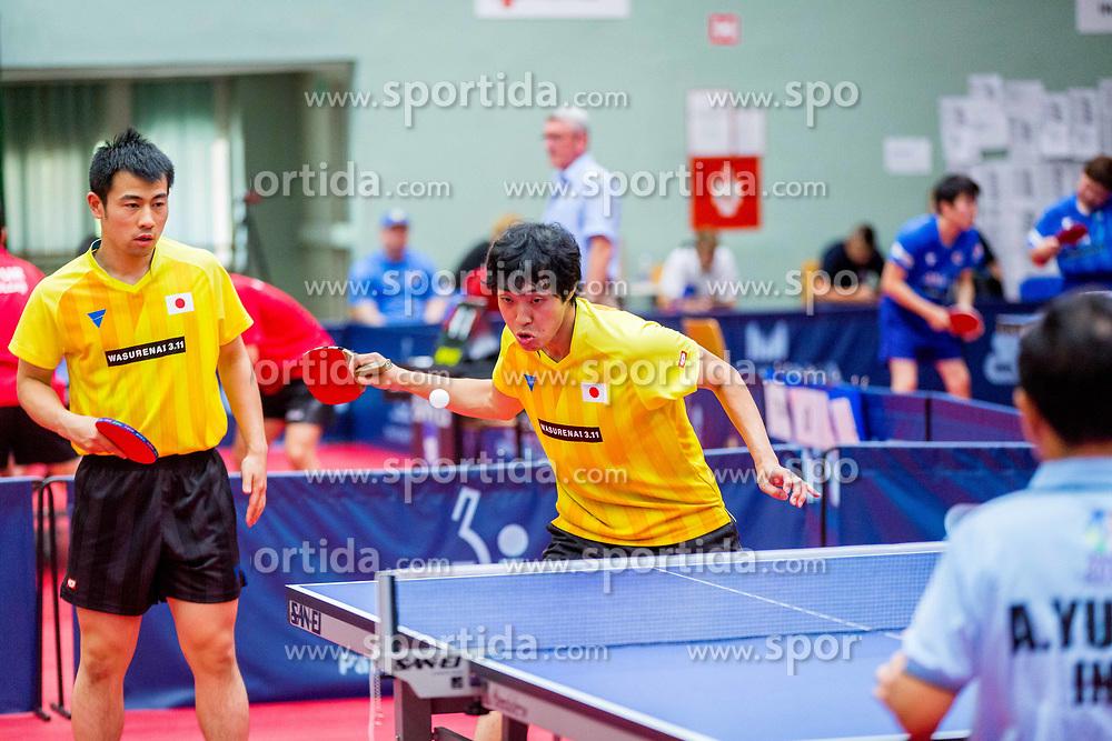 (Team JPN) MIYAUCHI Ryo and TAKAHASHI Toshiya in action during 15th Slovenia Open - Thermana Lasko 2018 Table Tennis for the Disabled, on May 10, 2018 in Dvorana Tri Lilije, Lasko, Slovenia. Photo by Ziga Zupan / Sportida