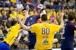 Luka Stepancic of PSG during handball match between RK Celje Pivovarna Lasko (SLO) and Paris Saint-Germain Handball (FRA) in VELUX EHF Champions League, on February 11, 2018 in Dvorana Zlatorog, Celje, Slovenia. Photo by Urban Urbanc / Sportida