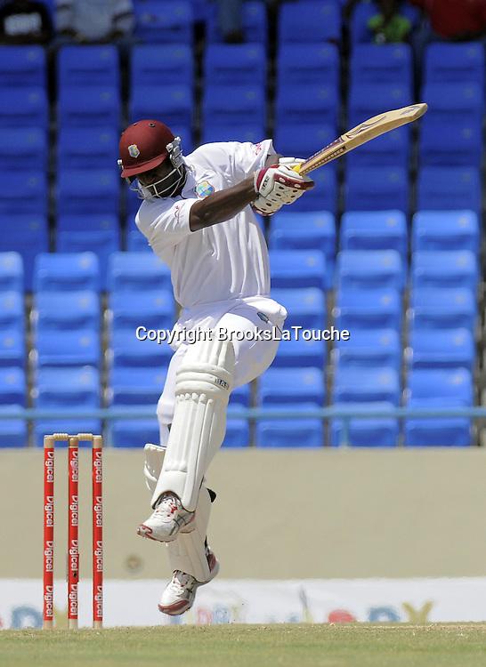 West Indies batsman Darren Sammy in action - Day 4 of the first test West Indies v New Zealand at Sir Vivian Richards Stadium, Antigua, West Indies.<br /> 28 July 2012. Photo;Randy Brooks/Photosport.co.nz