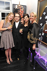 Left to right, SUSAN PARKES, CHARLIE ELIASCH, JUSTINE GLENTON and AMANDA ELIASCH at the after party for the press night of 'As I Like It' held at the home of Amanda Eliasch, 24 Cheyne Walk, London on 5th July 2011.