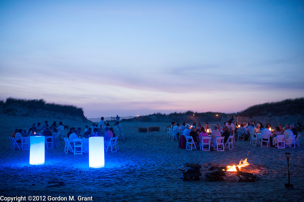 Sagaponack, NY - 6/29/12 - A bonfire at a clambake at Sagg Main Beach in Sagaponack, NY June 29, 2012.     (Photo by Gordon M. Grant)