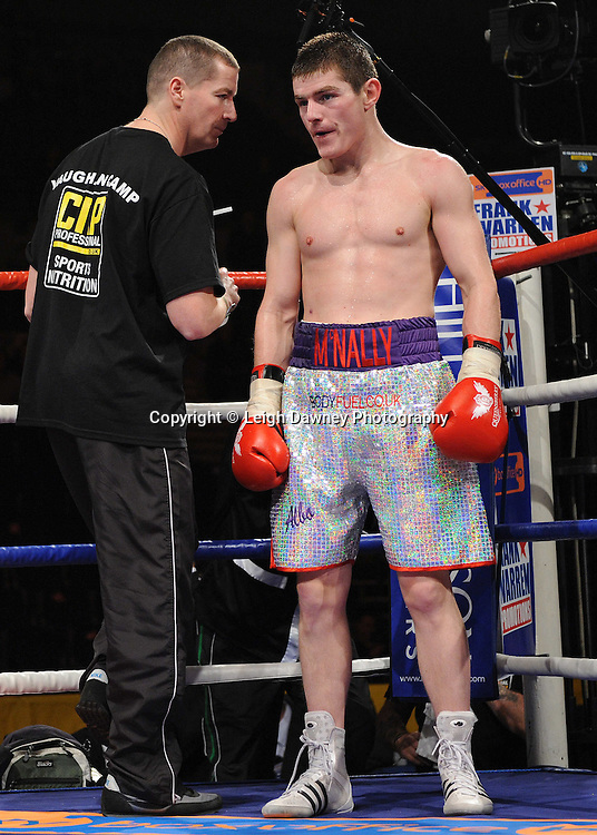 """Joe McNally (pictured) defeats Bertrand Aloa at the Echo Arena, Lverpool,11th December 2010,Frank Warren.tv Promotions """"Return Of The Magnificent Seven"""" © Photo Leigh Dawney"""