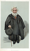 William Huggins (1824-1910) British astronomer and spectroscopist. Inventor of solar spectroscope. 'Spy' (Leslie Ward) cartoon from 'Vanity Fair' London 1903.