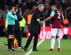 December 13, 2017 - London, United Kingdom - West Ham United manager David Moyes having words with West Ham United's Winston Reid.during Premier League match between West Ham United against Arsenal at The London Stadium, Queen Elizabeth II Olympic Park, London, Britain - 13 Dec  2017  (Credit Image: © Kieran Galvin/NurPhoto via ZUMA Press)