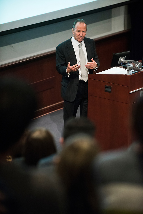 Timothy Barnard speaks at the Pigott Entrepreneurship Lecture on Mar 1, 2018 in the Wolff Auditorium.