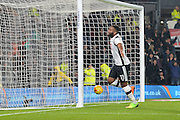 Derby County forward Darren Bent (11) celebrates after scoring a goal to make it 2-0 during the EFL Sky Bet Championship match between Derby County and Cardiff City at the Pride Park, Derby, England on 14 February 2017. Photo by Jon Hobley.
