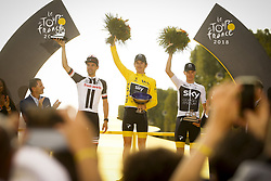 July 29, 2018 - Paris Champs-Elysees, France - PARIS CHAMPS-ELYSEES, FRANCE - JULY 29 : DUMOULIN Tom (NED) of Team Sunweb, THOMAS Geraint (GBR) of Team SKY and FROOME Chris (GBR) of Team SKY during stage 21 of the 105th edition of the 2018 Tour de France cycling race, a stage of 116 kms between Houilles and Paris Champs-Elysees on July 29, 2018 in Paris Champs-Elysees, France, 29/07/18 (Credit Image: © Panoramic via ZUMA Press)