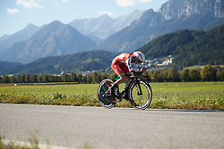 Alena Amialiusik (BLR) at UCI Road World Championships 2018 - Elite Women's ITT, a 27.7 km individual time trial in Innsbruck, Austria on September 25, 2018. Photo by Chris Auld/velofocus.com