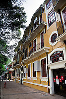 Beautiful old colonial architecture is surrounded by shady trees or manicured gardens making Shamian Island a leafy, peaceful retreat in downtown Guangzhou.