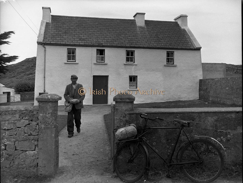 Brendan Behan in Connemara.10/06/1959<br /> <br /> Brendan Behan born in 1923 died in1964, He was a Writer and playwright.<br /> Brendan Francis Behan was a poet, short story writer, novelist, and playwright who wrote in both Irish and English.<br /> Picture of Brendan Behan, Writer and playwright in Dublin, Ireland.