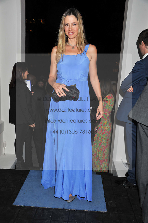 MIRA SORVINO at a reception hosted by Beulah London and the United Nations to launch Beulah London's AW'11 Collection 'Clothed in Love' and the Beulah Blue Heart Campaign held at Dorsia, 3 Cromwell Road, London SW7 on 18th October 2011.