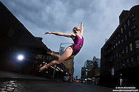 Meat Packing District New York City Dance As Art Photography Project featuring ballerina Erika Citrin.