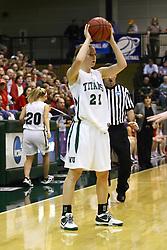 18 March 2011: Nikki Preston during an NCAA Womens basketball game between the Washington University Bears and the Illinois Wesleyan Titans at Shirk Center in Bloomington Illinois.