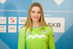 Ziva Otonicar during presentation of Team Slovenia at Lillehammer 2016 Winter Youth Olympic games, on February 4, 2016 on Bled, Slovenia. Photo by Ziga Zupan / Sportida