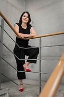 02 JUL 2019, BERLIN/GERMANY:<br /> Annalena Baerbock, MdB, B90/Gruene, Parteivorsitzende, Jakob-Kaiser-Haus, Deutscher Bundestag<br /> IMAGE: 20190702-01-041