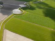 Nederland, Noord-Holland, Gemeente Zijpe, 16-04-2012; Burgerwielen, Westfriese Zeedijk, ten noordwesten van Tuitjenhorn. Grazende koeien in het weiland. De wielen zijn restanten van vroegere dijkdoorbraken..Westfriese Omringdijk, part of the 'Westfrisian Surrounding Dike'. The water is the remnant of dike breaches is the past..luchtfoto (toeslag), aerial photo (additional fee required);.copyright foto/photo Siebe Swart
