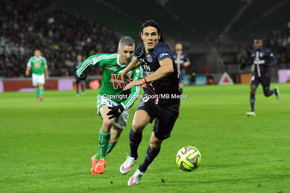 Edinson CAVANI - 25.01.2015 - Saint Etienne / PSG  - 22eme journee de Ligue1<br />