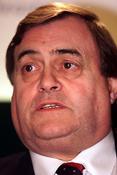 Press Conference, The Department of Transport, Eland House, London..John Prescott, Deputy Prime Minister and the Minister for Transport, London, February 22, 2000. Photo by Andrew Parsons / i-images..