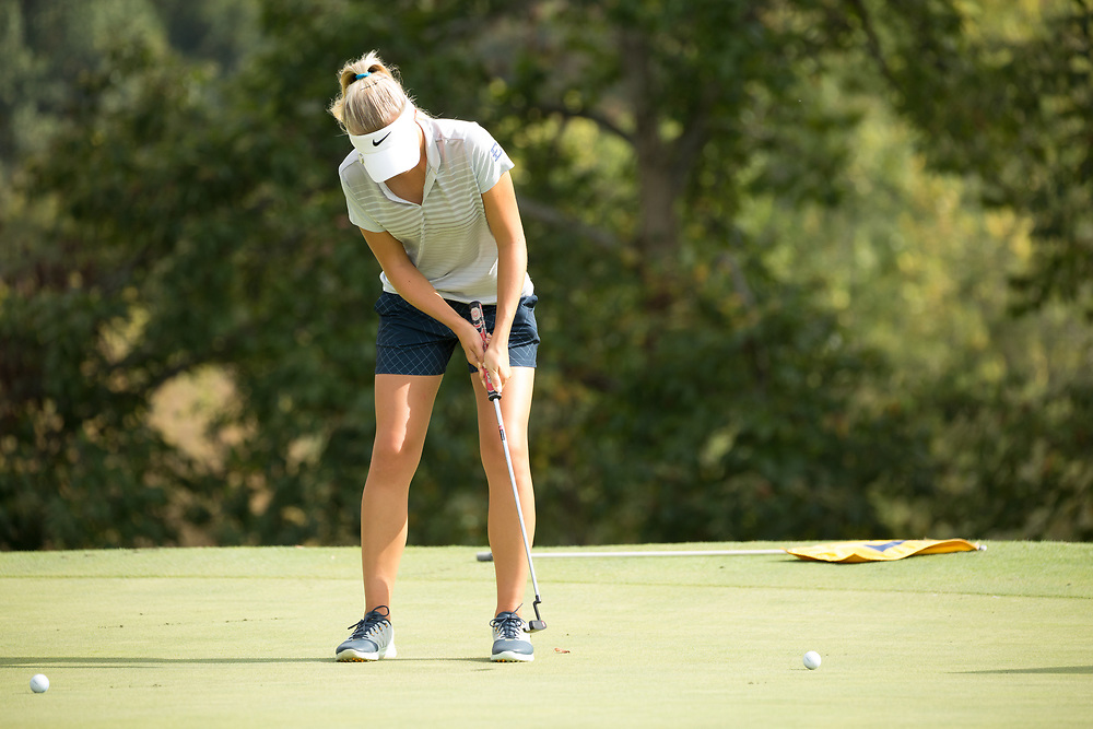 October 10, 2017 - Johnson City, Tennessee - Warren-Greene Golf Center: Tereza Melecka<br /> <br /> Image Credit: Dakota Hamilton/ETSU