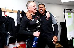 Free to use courtesy of Sky Bet - Sheffield United manager Chris Wilder celebrates winning promotion to The Sky Bet Championship - Mandatory by-line: Robbie Stephenson/JMP - 08/04/2017 - FOOTBALL - Sixfields Stadium - Northampton, England - Northampton Town v Sheffield United - Sky Bet League One