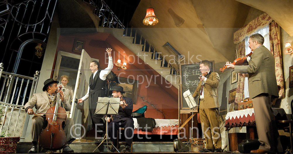 The Ladykillers<br /> A new stage adaptation by Graham Linehan<br /> At The Gielgud Theatre London, Great Britain <br /> 5 December 2011<br /> Press Photocall<br /> <br /> Peter Capaldi as Professor Marcus,<br /> James Fleet as Major Courtney<br /> Ben Miller as Louis<br /> Clive Rowe as One Round<br /> Stephen Wight as Harry<br /> Marcia Warren as Mrs Wilberforce<br /> <br /> Photograph by Elliott Franks