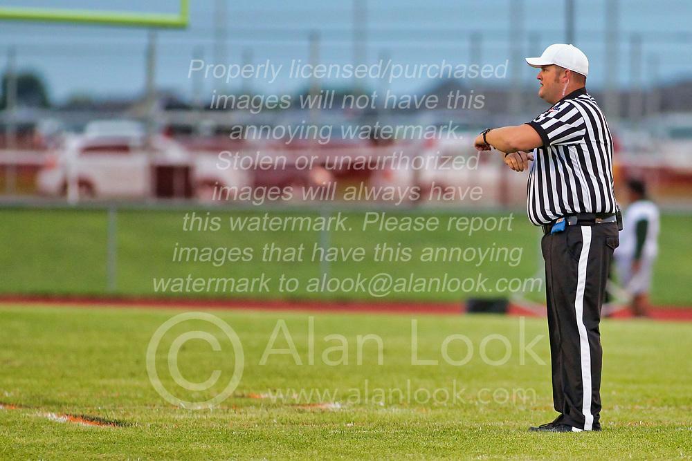 30 August 2019: Peoria Richwood Knights at Normal Normal Community Ironmen football, Normal Illinois Referee Scott Kerr