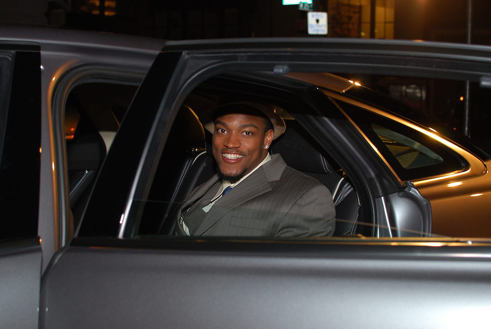 March 31, 2010, New York City. Danny Ware of the NY Giants at a VIP event celebrating the launch of the 2011 Jaguar XJ. The event was hosted by Danny Ware, Osi Umenyiora of the NY Giants, and Kimatni Rawlins of Automotive Rhythms.