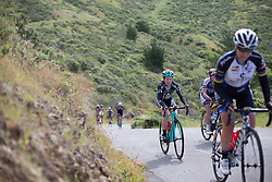 Laura Massey (GBR) of Drops Cycling Team digs deep as she rides up on the Coleman Valley Rd climb during the third, 111 km road race stage of the Amgen Tour of California - a stage race in California, United States on May 21, 2016 in Santa Rosa, CA.