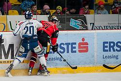 06.01.2017, Ice Rink, Znojmo, CZE, EBEL, HC Orli Znojmo vs Fehervar AV 19, Qualifikationsrunde, im Bild v.l. Michal Vodny (HC Orli Znojmo) Istvan Sofron (SAPA Fehervar AV19) // during the Erste Bank Icehockey League Qualification round match between HC Orli Znojmo and Fehervar AV 19 at the Ice Rink in Znojmo, Czech Republic on 2017/01/06. EXPA Pictures © 2017, PhotoCredit: EXPA/ Rostislav Pfeffer