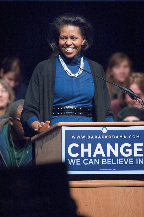 18582Mrs. Obama visits Ohio University at Templeton-Blackburn Memorial Auditorium on Feb. 28th, 2008...Mrs. Obama
