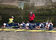 Mortlake/Chiswick, GREATER LONDON. United Kingdom. 2017 Men's Boat Race winners OUBC Celebrate, winning, The Championship Course, Putney to Mortlake on the River Thames.<br /> <br /> Crew: Oxford, Bow: William Warr, 2: Matthew O'Leary – USA, 3: Oliver Cook, 4: Joshua Bugaski, 5: Olivier Siegelaar – NED, 6: Michael DiSanto – USA, 7: James Cook, Stroke: Vassilis Ragoussis, Cox: Sam Collier – <br /> <br /> <br /> Sunday  02/04/2017<br /> <br /> [Mandatory Credit; Peter SPURRIER/Intersport Images]