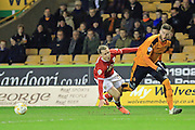Matt Doherty, Luke Freeman during the Sky Bet Championship match between Wolverhampton Wanderers and Bristol City at Molineux, Wolverhampton, England on 8 March 2016. Photo by Daniel Youngs.