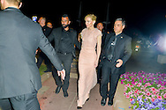 Cate Blanchett leaves the Baolibeach in the Festival Internationnal of the film from Cannes<br />  Cannes, May 17, 2015
