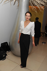 JESSICA BROWN FINDLAY at the pre party for the English National Ballet's Christmas performance of The Nutcracker held at the St.Martin's Lane Hotel, St.Martin's Lane, London on 14th December 2011.
