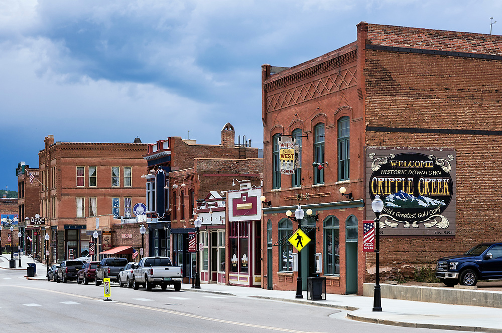 Town of Cripple Creek, Colorado, USA.