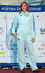 Nina Kolaric at fashion show of new jerseys of Slovenian Athletic National Team, on October 28, 2008, in Mercator center Siska, Ljubljana, Slovenia. (Photo by Vid Ponikvar / Sportal Images).