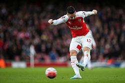 Olivier Giroud of Arsenal shoots - Mandatory byline: Jason Brown/JMP - 07966386802 - 09/01/2016 - FOOTBALL - Emirates Stadium - London, England - Arsenal v Sunderland - The Emirates FA Cup