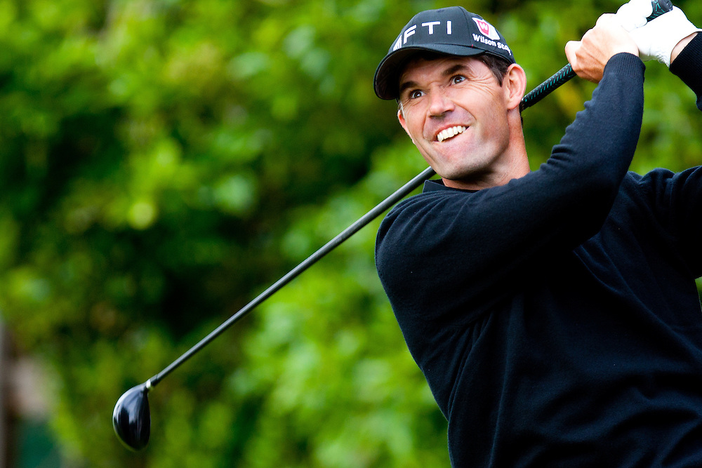PEBBLE BEACH, CA - JUNE 18: Padraig Harrington of Ireland hits his tee shot during the second round of the 110th U.S. Open at Pebble Beach Golf Links on June 18, 2010 in Pebble Beach, California. (Photo by Rob Tringali) *** Local Caption *** Padraig Harrington