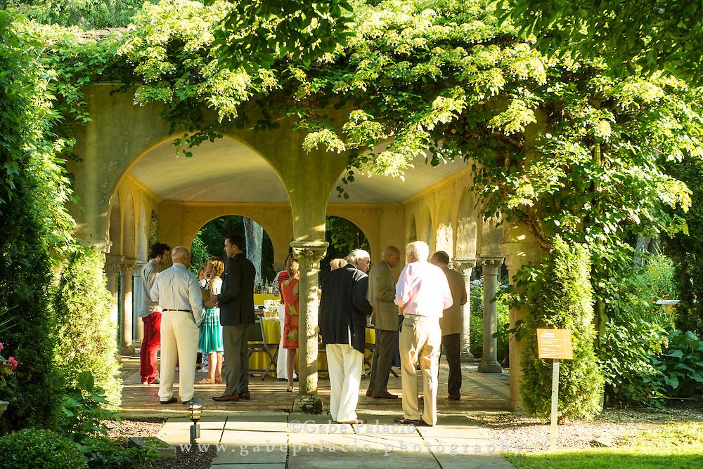 Reception in the Italian Pavillon  at Caramoor in Katonah, New York on July 10, 2015. <br /> (photo by Gabe Palacio)