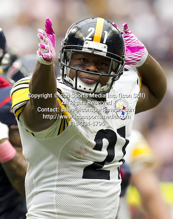 Oct. 2, 2011 - Houston, TX, USA - Mewelde Moore (21) of the Pittsburgh Steelers signals a first down after fighting for yardage against the Houston Texans in the second half of the Texans' 17-10 victory on Sunday, October 2, 2011, in Houston, Texas