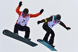World Cup SBX, MENTEL-SPEE Bibian, NED, BUNSCHOTEN Lisa at the 2016 IPC Snowboard Europa Cup Finals and World Cup