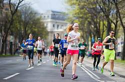12.04.2015, Wien, AUT, Vienna City Marathon 2015, im Bild Läufer am Ring // runners on ringstreet during Vienna City Marathon 2015, Vienna, Austria on 2015/04/12. EXPA Pictures © 2015, PhotoCredit: EXPA/ Michael Gruber