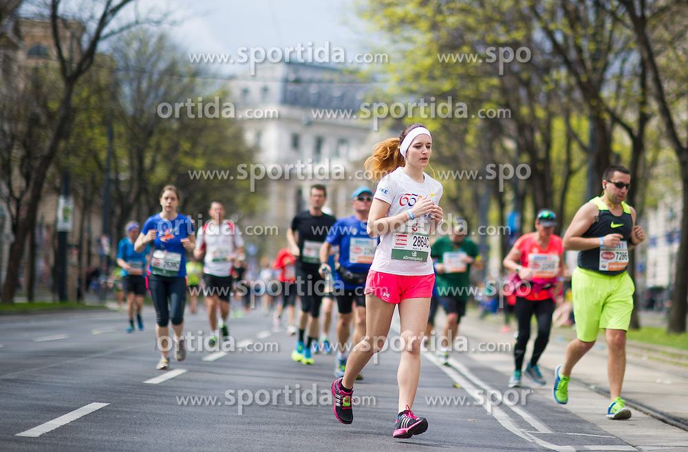 12.04.2015, Wien, AUT, Vienna City Marathon 2015, im Bild Läufer am Ring // runners on ringstreet during Vienna City Marathon 2015, Vienna, Austria on 2015/04/12. EXPA Pictures © 2015, PhotoCredit: EXPA/ Michael Gruber